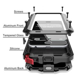 Wholesale Iphone 4s Silver - Brand Waterproof Dropproof Dirtproof Shockproof Phone Case for iPhone 4 4s 5 5s 5c 6 6s 7 7 plus Metal Cover