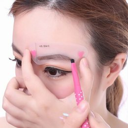 Wholesale Shaping Wear - 4 styles set Grooming Stencil Kit Shaping DIY Beauty Eyebrow Template Make Up Tool Free Shipping