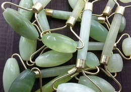 Wholesale Healthy Massage - Portable Pratical Jade Facial Massage Roller Anti Wrinkle Healthy Face Body Head Foot Nature Beauty Tool