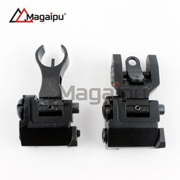 Wholesale Battle Sights - Magaipu Hot Sale Tactical Metal Iron TROY Troy Front And Rear Folding Battle Sight Set Airsoft Hunting Accessories No Logo