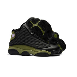 Wholesale Green Day Love - Wholesale Drop Shipping 2017 Air 13 Hyper Royal Olive Altitude History of Flight Love & Respect Mens Basketball Sneakers