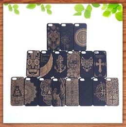 Canada Vente chaude Solide Bois Téléphone Case Pour Iphone 7 6 6 S Plus Bambou Dur Cas de Couverture Gravure En Bois Shell Pour Apple Iphone 6plus Offre