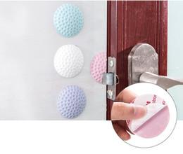 Wholesale Buffer Lock - Self Adhesive Wall Protectors Door Handle Bumpers Buffer Door Guard Stoppers Silencer Door Lock Rubber Crash Pad