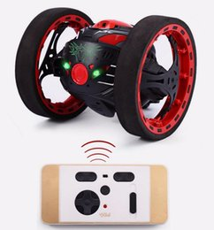 Wholesale Led Rc Cars - RC Car Mini Gifts PEG SJ88 2.4G Remote Control Toys Jumping Car 2 Second Rotation Bounce with LED Night Lights Toys