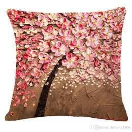 Wholesale Retro Flower Cushion Covers - Flower Pillow Case Retro Style 3D Digital Painted Colorful Cushion Non Core Cover Pillowslip Home Decor Hot Sale 7xr R