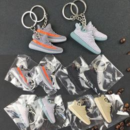 Deutschland 2017 schlüsselanhänger Silikon 350 Boost KeyChain Sneaker Keychain Kinder Schlüsselanhänger Schlüsselanhänger Mode Frau Mädchen Geschenke Freies Verschiffen WX-K01 Versorgung