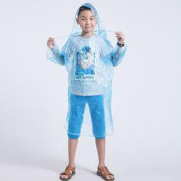 Wholesale Kids Rain Cover - Children Raincoat Kids Disposable Waterproof Hooded Rain Coat Outdoor Cycling Camping Motorcycle Rain Rainwear Cover Colorful