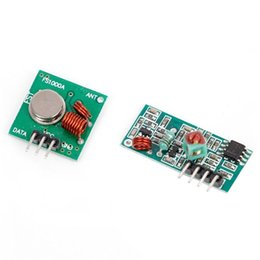 Wholesale Arduino Rf Transmitter Receiver - Wholesale- RF Wireless Transmitter Module 433Mhz W  Receiver Kit For Arduino Remote Control