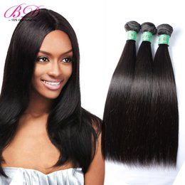 Wholesale One Bundle Malaysian Straight Hair - BD Silky Straight Human Hair Extensions Malaysian Human Hair Weave Natural Black Double Layers 3 4 Bundles One Set