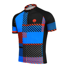 Customized NEW Hot 2017 Lines square Blue JIASHUO mtb road RACING Team Bike  Pro Cycling Jersey Shirts   Tops Clothing Breathing Air 0fbaee86a