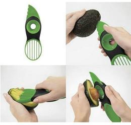 Wholesale Good Hot Knife - Hot 1Pc 3-in-1 Avocado Slicer & Corer Plastic Fruit Pitter Durable Blade Good Grips Split Safely b656