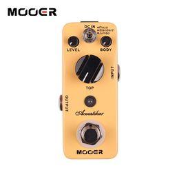 Wholesale acoustic jumbo - MOOER Acoustikar Reverb Pedal Acoustic guitar simulation effects 3 Working Modes: Piezo Standard Jumbo Guitar effect pedal