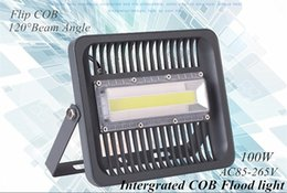 Wholesale Wholesale Wall Wash Lights - 100W High Power COB LED Landscape Floodlights AC110V 220V New Intergrated COB Outdoor Wall Wash Lamp 100W Waterproof Landscape Lighting