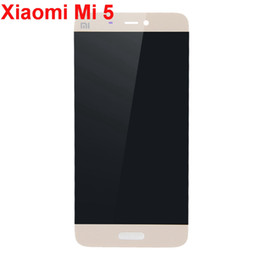 Wholesale Cellphones Lcd Replacement Screens - For Xiaomi M5 Cellphone LCD Screen and Digitizer Assembly Replacement Display- White Gold Black - Grade P