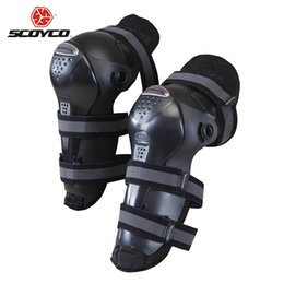 Wholesale Motorcycle Racing Accessories - Wholesale- SCOYCO Motocross Off-Road Racing Knee Protector Guard Motorcycle Riding Knee Pads Outdoor Sports Protective Gear Accessories