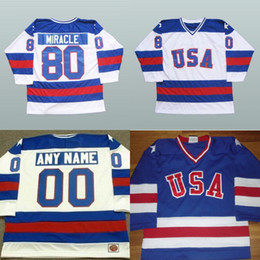 2019 jerseys de hockey de los eeuu 1980 Miracle On Ice Hockey Jerseys 15 Mark Wells 24 Rob McClanahan 28 John Harrington Mens 100% cosido Team USA Hockey Jersey jerseys de hockey de los eeuu baratos