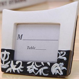 Wholesale Damask Table Decorations - Damask Design Mini Photo Frames Place Card Holders Party Favors Table Decoration Gifts Wedding Favor Free Shipping ZA3811