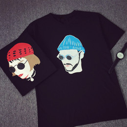 Wholesale Film Tee Shirts - Wholesale- Free Shipping 2016 Summer New Fashion Men's T-shirt Women Film Leon Printed Tee Short Sleeve Tops Factory Outlets