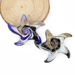 Wholesale Glass Starfish Charms - Handmade Lampwork Murano Glass Starfish Pendants Glaze Starfish Pendants With Mix Colors 12pcs pack MC0010