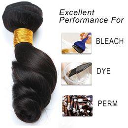Wholesale Brazilian Vigin Hair - Brazilian hair bundles loose wave unprocessed virgin human hair 7A grade good quality bleach perm no shedding branzilian vigin hair loose