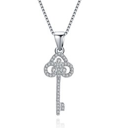 Wholesale Diamond Jewelery - Ladies Jewelry 925 Sterling Silver Necklaces Pendants for Women Jewelley Tower Key Pendants Jewelery making for mothers gifts