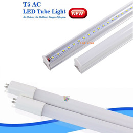 Wholesale Led Fluorescent Tube Feet - T5 LED tube light 4ft 3ft 2ft T5 fluorescent G5 LED lights 9w 15w 18w 22w 4 foot integrated led tubes lamp ac85-265v