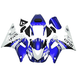 Wholesale 98 R1 Blue Fairings - 3 free gifts Complete Fairings For Yamaha YZF 1000-YZF-R1-98-99 YZF-R1-1998-1999 Motorcycle Full Fairing Kit Blue White