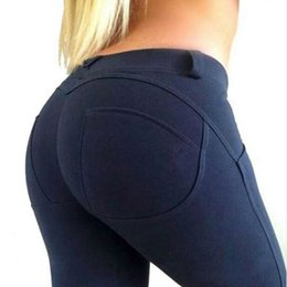 Wholesale Capris Leggings Pants - Low Waist Leggings Women Sexy Hip Push Up Pants Legging Jegging Gothic Leggins Jeggings Legins 2016 Autumn Winter Fashion