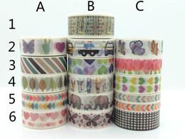 Wholesale Diy Car Tape - Wholesale- 2016 Butterfly Car Arrow Heart Nice Washi Paper Masking Tape Cartoon Washi Tapes Scrapbooking DIY Sticker