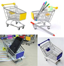Wholesale Metal Search - 1pcs Mini Supermarket trolley Shopping Handcart Phone Holder Baby Toy Newest Hot Search
