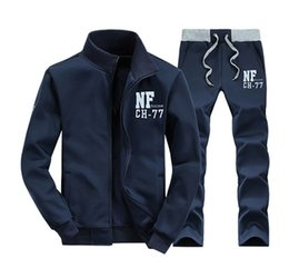 Wholesale Teens Suits - Mens tracksuits sportswear Sets Hoodies Sweatshirts 2Pcs Coat+Pant Sweat Suit Polo Jackets Sets Homme Clothes Teens Boys Free shipping 4XL