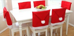 Wholesale Wholesale Party Supplies Tables Chairs - Christmas Chair Covers Santa Clause Red Hat for Dinner Decor Home Decorations Ornaments Supplies Dinner Table Party Decor 300Pcs
