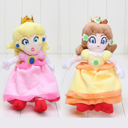 Wholesale Mario Plush Figure - Super Mario Plush doll toy 20cm Princess Peach Daisy Doll pp cotton stuffed Plush for girl birthday gift