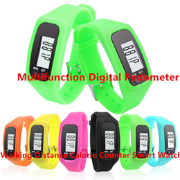 Wholesale Fashion Design Multifunction Digital Pedometer Silicone Fitness Run Step Walking Distance Calorie Counter Smart Watch Bracelet Pedometers
