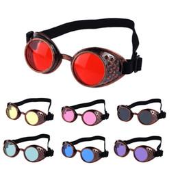 Occhiali da saldatura online-Occhiali da sole uomo donna 2018 Vintage Style Steampunk Goggles Welding Punk Occhiali Cosplay