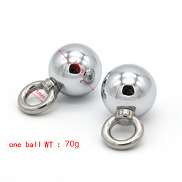 Wholesale Ball Nipple Clamp - Metal Ball Electro Shock Clitoris Clip Erotic Bondage Adult Game Sex Toys for Couples Sex Products