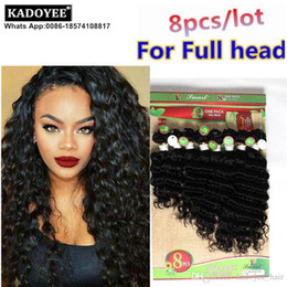hair color end weave Canada - Kadoyee deep loose wave hair weave 100% Brazilian Human virgin remy hair extension 8pcs lot for full head ombre color soft healthy end