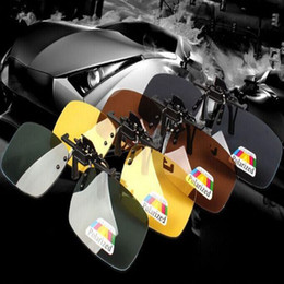 Wholesale Goggles Packages Wholesale - Sunglasses Clip Myopia Polarized Unisex Ultra-light Lens On Sun glasses 3 color UV400 Driving goggles With packaging Free DHL FedEx