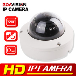Wholesale Ir Leds Night - 720P Mini Dome IP Camera ONVIF Outdoor H.264 IR-CUT 12Pcs Leds Plug Night Vision & Play 1.0 Mega pixel Security Camera IP 1.0MP