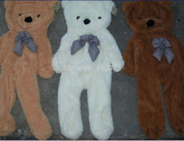 Wholesale Empty Teddy Bears - Wholesale- Factory price!!! 3colors Empty 170cm- 180cm teddy bear toys skin Stuffed Animals & Plush Toys Free shipping