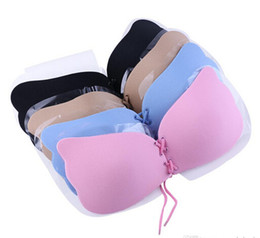 Wholesale Sexy Fashion Invisible - Butterfly Shaped Women Invisible Bra Self Adhesive Silicone Bras Invisible Push Up Bikini Fashion Women Underwear