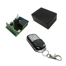 Wholesale Electric Lock Remote Control - Wholesale- Vhome Wireless RF 433MHz DC12V Wireless Remote Control Switch with 433 Relays Receiver for garage door Lock ,electric curtains
