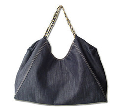 Wholesale Large Spandex - Free shipping Jean Denim Ladies Hand Bag Women Big Hobo Handbag Shopper Tote Large Messenger Cross body Shoulder Bag