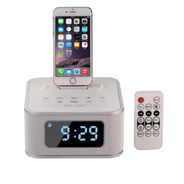Wholesale bluetooth phone base - S1 Pro wireless Bluetooth speaker with intelligent remote control charging base, multi-function FM radio, small stereo, subwoofer