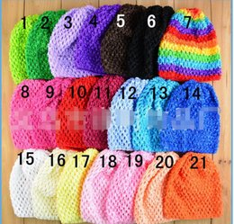 "Wholesale Hat Waffle Beanie Crochet - 14 Colors Colorful Baby 6"" Crochet Beanie Hats Infant Handmade Knit Waffle hat String Wheat Caps Newborn cap"