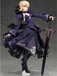 Wholesale Sexy Doll Toys Sale - HOT Sale ! Sexy Figures Japan Girls Alphamax FateExtra Saber Sebastian Black Dress 25cm Doll Model Collectibles Model Toys