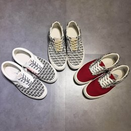 Wholesale x lover - Hot Sale Red Fear of God x Sneakers Women And Mens Low Cut FOG Era 97 Casual Shoes Fashion lovers Canvas shoes 35-45