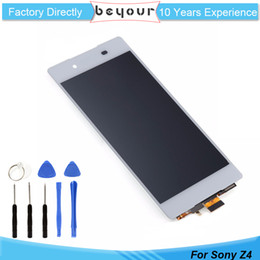 Wholesale Xperia Screen Replacement - For Sony for Xperia Z4 E6553 E6533 LCD Display Touch Screen Digitizer Assembly Replacement Black White Gifts Tools