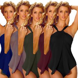 Wholesale Female Sports Wear - 2017 Female One-piece Sexy Swimsuit Women Beachwear Halter Plus Size Slim Fit Swimwear Summer Bikini Sets Bathing Sport Wear Monokini swim