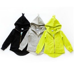 Wholesale Garments Clothes - Kids Dinosaur Hoodies Cartoon Boys and Girls Jackets Baby Outerwear Children's Coat Children Garment Clothes Wear